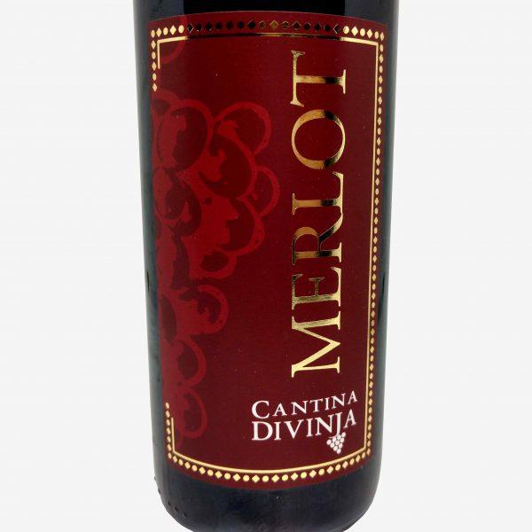 merlot cantina divinja modena bottiglia etichetta fronte