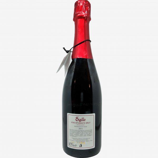 vino spumante brut metodo classico sigillo cantina divinja modena bottiglia retro