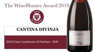winehunter lambrusco award lambrusco di sorbara Unico Cantina Divinja